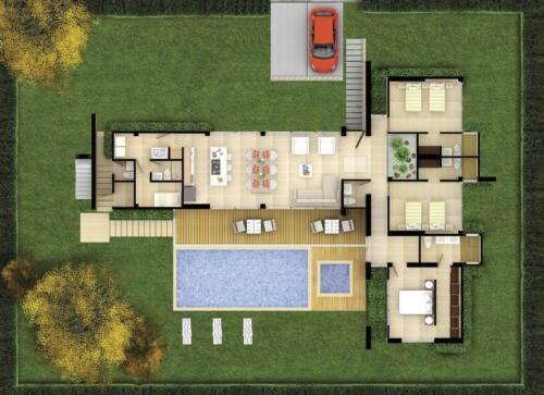 Bariwa Planta Casa 1 con patio