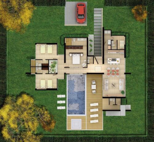 Bariwa Planta Casa 2 con patio