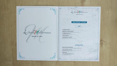 Carta Restaurante La Barra Mediterránea