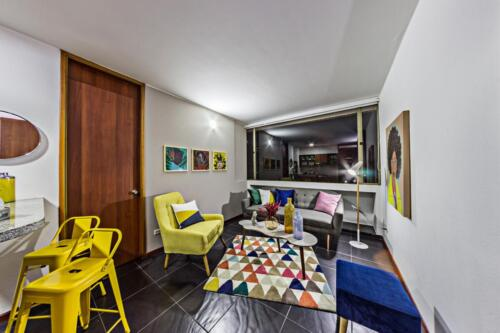 Fotografía arquitectónica área social apto 2 Habitaciones Portal Javeriana